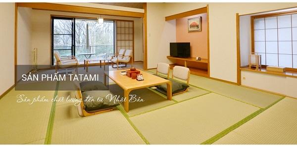 Thảm chiếu Tatami Nhựa Hybrid - màu vàng - có viền
