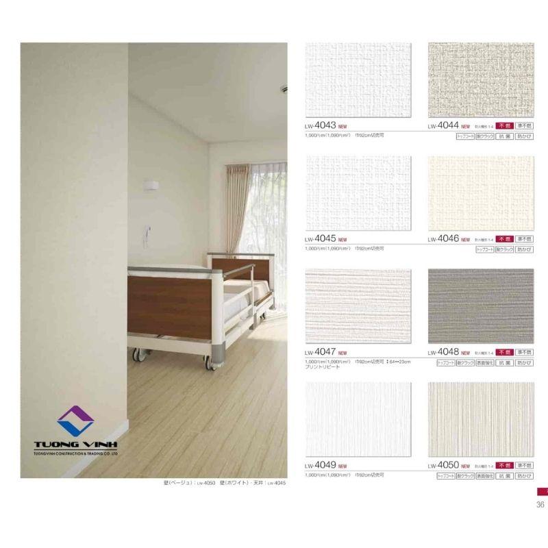 Giấy dán tường Nhật Bản Will - Lilycolor LW4043 - 4050