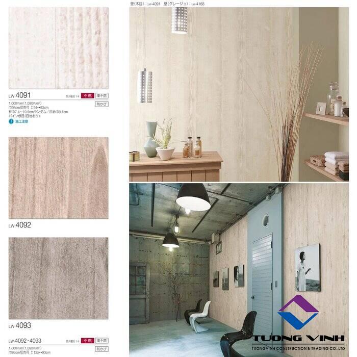 Giấy dán tường Nhật Bản Will - Lilycolor LW4091 - 4093