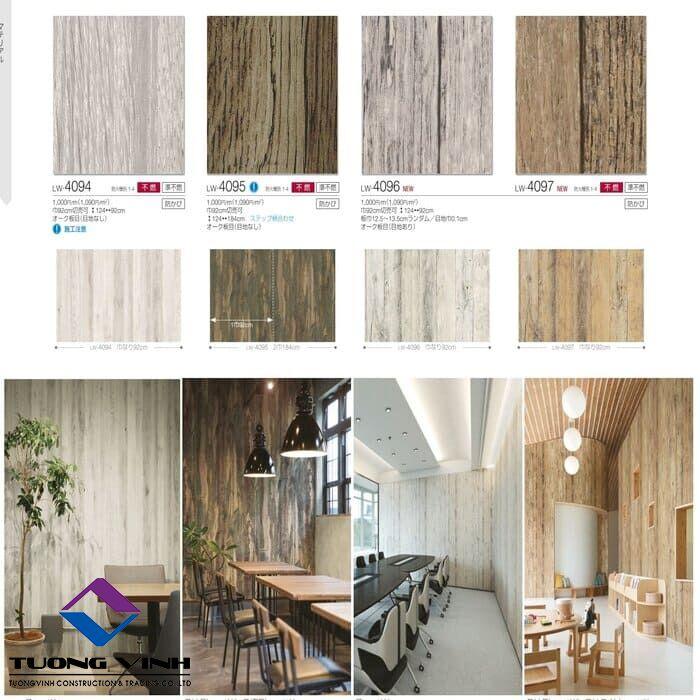 Giấy dán tường Nhật Bản Will - Lilycolor LW4094 - 4097