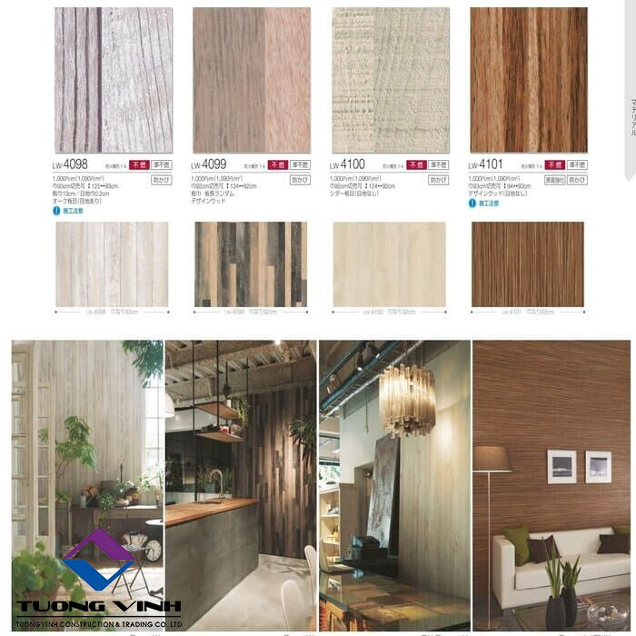 Giấy dán tường Nhật Bản Will - Lilycolor LW4098 - 4101