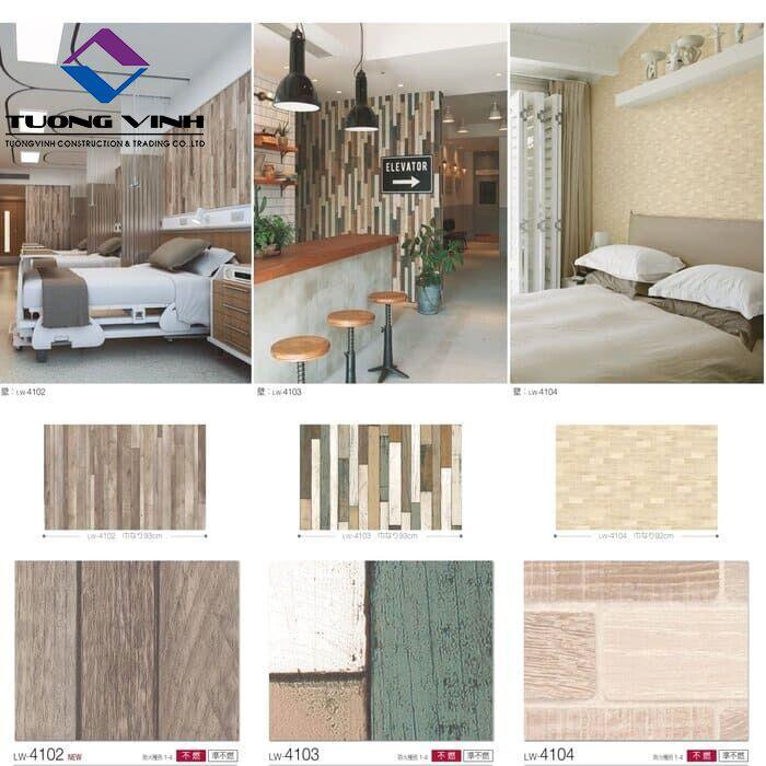 Giấy dán tường Nhật Bản Will - Lilycolor LW4102 - 4104