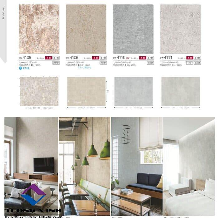 Giấy dán tường Nhật Bản Will - Lilycolor LW4108 - 4111