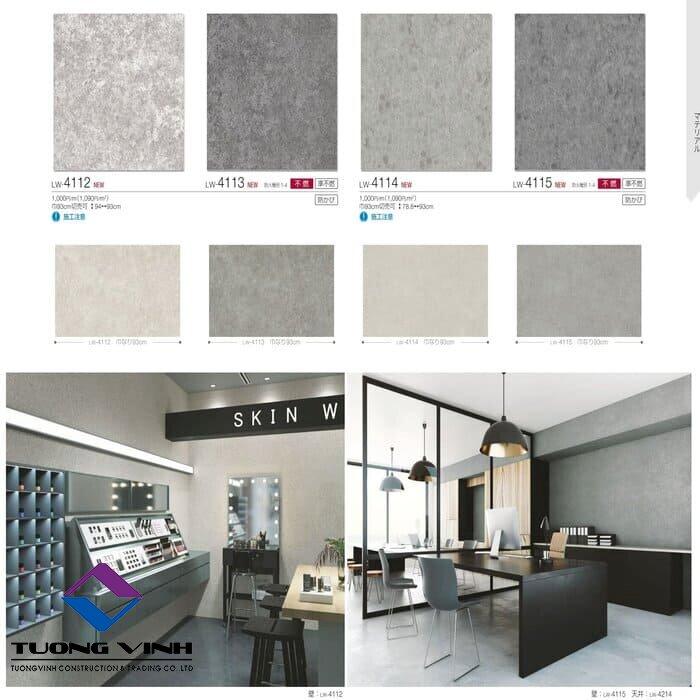 Giấy dán tường Nhật Bản Will - Lilycolor LW4112 - 4115