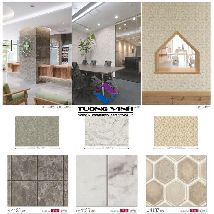 Giấy dán tường Nhật Bản Will - Lilycolor LW4135 - 4137